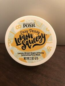 PERFECTLY POSH EASY PEASY LEMON SQUEEZY EXFOLIATING FACE MASK NEW/SEALED