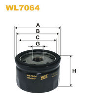 WIX WL7064 Car Oil Filter - Spin-On Replaces W77 PH2830 AW10