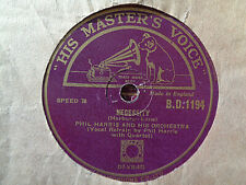 PHIL HARRIS - Necessity / I'm So Right Tonight 78 rpm disc (A++)