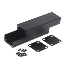 DIY Extruded Electronic Project Aluminum Enclosure Case Black 80x25x25mm