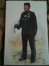 Military Postcard Captain Royal Gurkha Rifles by Alix Baker