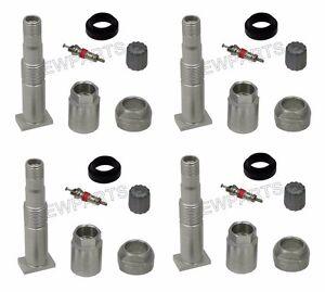 For Mercedes TPMS Wheel Valve Stem x4 Tire Pressure Monitoring R171 W204 W209