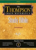 KJV Thompson Chain-Reference Bible, Burgundy  Bonded Leather, Thumb Indexed