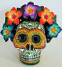 amazing Alfonso Castillo day of the dead skull Frida Kahlo ceramic folk art