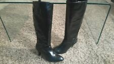 OFFICE LONDON STUNNING LEATHER KNEE HIGH BOOTS.LEAF DETAIL.NEW.