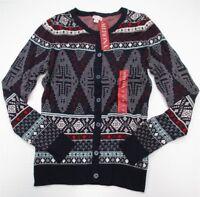 new MERONA #K1296 Women's Size XS Holiday Cozy Navy Blue Knit Cardigan Sweater