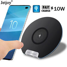 For Samsung S7 S10 iPhone XS 10W Fast Wireless Charger Pad Qi Quick Charging Mat