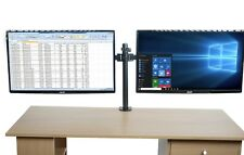 Bramley Power Dual Monitor Desk Mount Arm VESA Bracket for Computer Display / TV