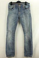 Nudie Herren Jeans Hosen Denim Blau Gr. 33/34 JD002