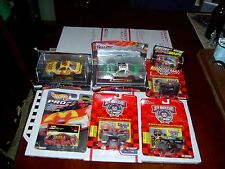 NASCAR COLLECTIBLES LOT - 7 NEW IN BOX CARS & 30 COLLECTOR CARDS IN PLASTIC