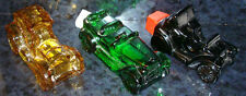 3 AVON Vintage Bottles Amber Green Black Glass CAR Automobile Cologne Decanters