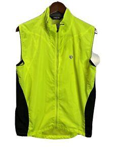 Pearl Izumi Neon Green Reflective Sleeveless Cycling Full Zip Size L ( P.22 L.27