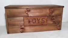 toy box personalised storage chest british oak