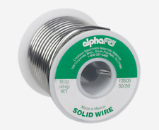 """NEW!! Alpha Fry SOLID WIRE Solder 50/50 Tin/Lead 0.125"""" Diameter 16 oz. 13505"""