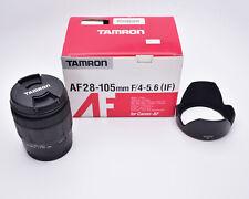 Tamron AF 28-105mm f/4-5.6 IF Zoom Lens 179DE for Canon AF Hood & Caps (#5657)