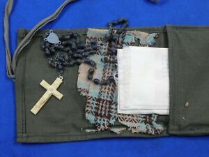 """WW 2 RAAF """"Silk"""" Pilots Escape Map """"#31 North & South Burma"""" Chit, Rosary, Pouch"""