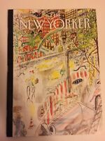 """THE NEW YORKER MAGAZINE MAY 7, 2018 Cover: """"Biking in the rain""""  BY J.J. Sempe'"""