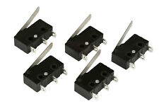 5 Pc Temco Micro Limit Switch Lever Arm Subminiature Spdt Snap Action Lot