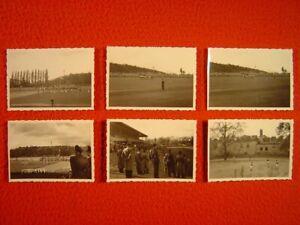 BERLIN - MOMMSENSTADION - TENNIS BORUSSIA-STUTTGARTER KICKERS - 6 Fotos von 1956