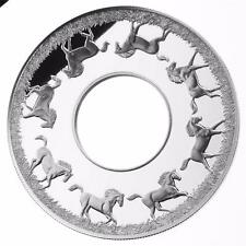 Niue 2014 2$ Year of The Horse Rotating Coin 2 Oz Limited Silver Coin