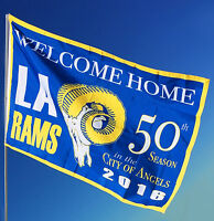 Rams Flag or Banner | Large 3' x 5' | SHIPS FREE L.A. Football Flags | Man Cave!