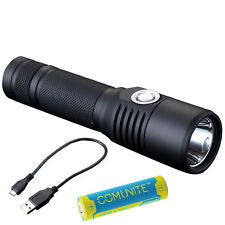 USB Rechargeable LED Flashlight JETBEAM C8 CREE XM-L2 T6 Torch + 18650 Battery