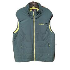 Patagonia Men's Nano Puff Quilted Green Vest Size Large