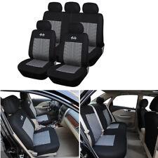 9pcs Sports Car Seat Covers  Black+Gray