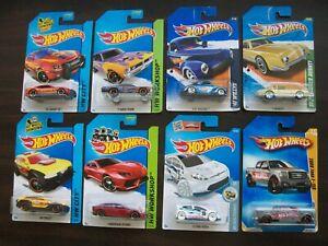 Hot Wheels x8 NIP Lamborghini/Ford Fiesta/Ford F-150/41 Willys/Studebaker Avanti