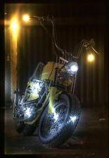 LED Bild Wandbild Dekobild 65 x 45 cm Leuchtbild Motorrad / Route 66