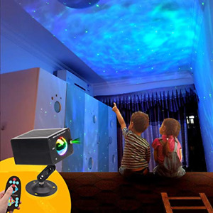 LED Projector Ocean Wave Star Night Light-Remote Control with Sound Sensor