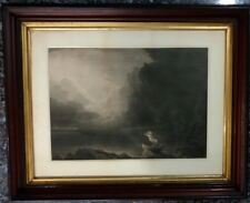 """James Smillie 1856 Engraving """"Old Age"""" from """"Voyage of Life"""" 4 Works Set"""