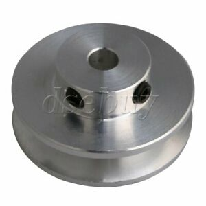 Silver Aluminum Alloy Single Groove 5MM Fixed Bore Step Pulley 31x15x5MM