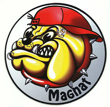 "Aufkleber Sticker Decal ""Magnat-Bulldog"" Lautsprecher Auto Laptop Skateboard"