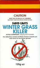 WINTER GRASS KILLER 125g David Grays Lawn Weed Control Propyzamide Poa Bluegrass