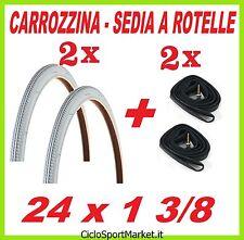 2 Neumáticos 24 x 1 3/8 + 2 Cámaras de aire REGALO - SILLA RUEDAS /