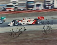 4x Indianapolis 500 winner RICK MEARS & ROGER PENSKE Signed 8X10 Indy Race Photo