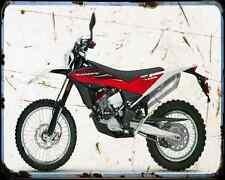 Husqvarna TE 449 12 A4 metal sign moto Vintage Aged