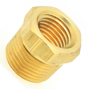 1/2 Male to 1/4 Female Npt Brass Pipe Reducer Bushing Fitting Water Fuel Gas Oil