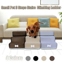 3 Step Stairs For High Bed Pet Cat Dog Ramp Ladder With Removable Top