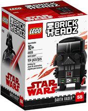 LEGO BRICKHEADZ • 41619 STAR WARS DARTH VADER LUG 2018 Brick Headz RITIRATO NEW