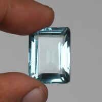 41.20 Ct. Natural Aquamarine Greenish Blue Color Fine Octagon Cut Loose Gemstone