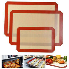 Full Sheet Size Silicone Baking Mat Oven Cookie Reusable Liner Dough Macaron US