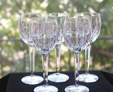 "Waterford Irish Cut Crystal, ""Black Rock"" Red Wine Glasses (5), Signed"