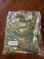 "Brand New Supreme ""Fronts Tee"" Green/Camo size L"