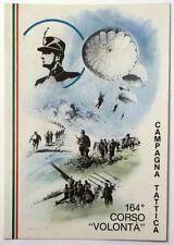 Cartolina Militare Campagna Tattica 164° Corso Volontà