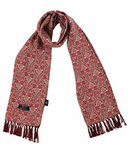 Tootal Red Antique Tile Print Rayon Scarf