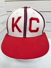 Vintage Kansas City KC Monarchs Negro Baseball Size 7 Fitted USA