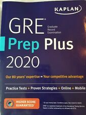 GRE Prep Plus 2020 Kaplan Brand New