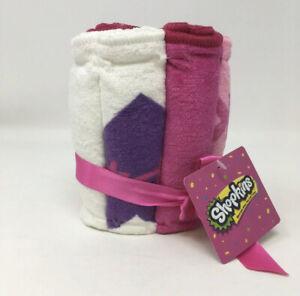 Shopkins 6 Piece Wash Cloth Set Six Washcloths New